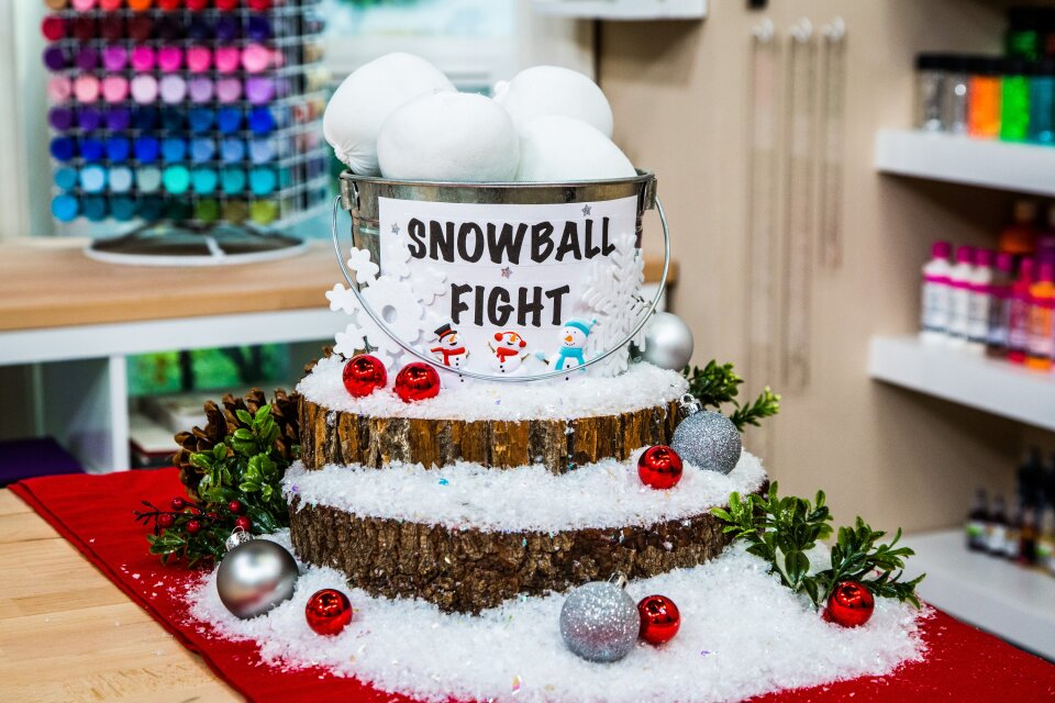 DIY Indoor Snowball Bucket