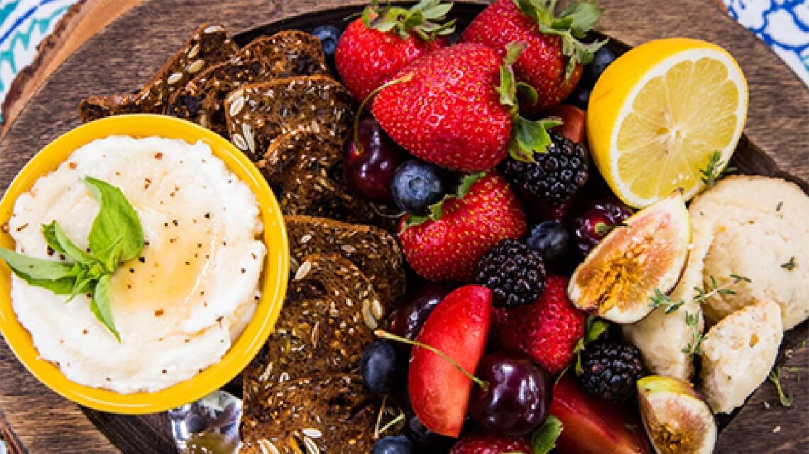 Erik Valdez's Ricotta and Strawberries & Cristina's Lemon Thyme Shortbread