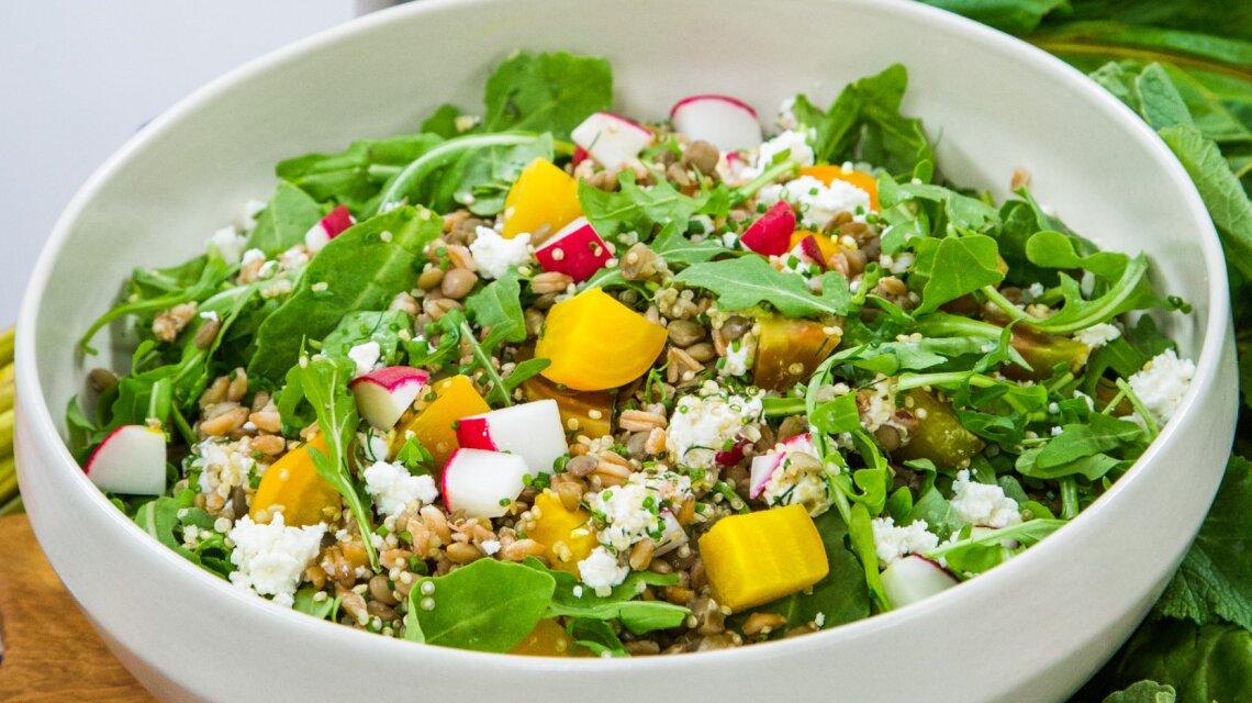 Lemon Lentil & Grain Salad