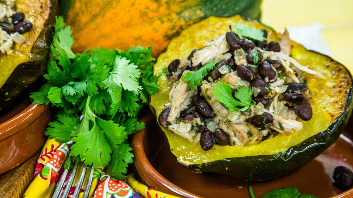 Acorn Squash Taco Bowls