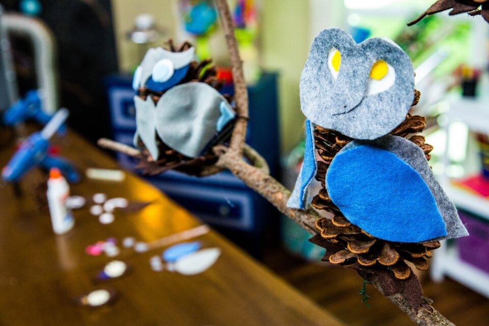 DIY Pine Cone Owls