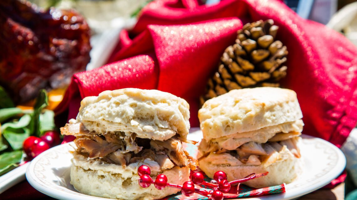 Christmas Turkey and Biscuits
