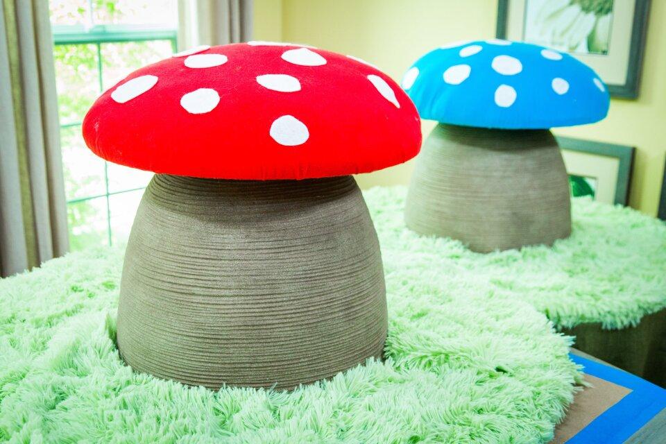 DIY Mushroom Reading Stool