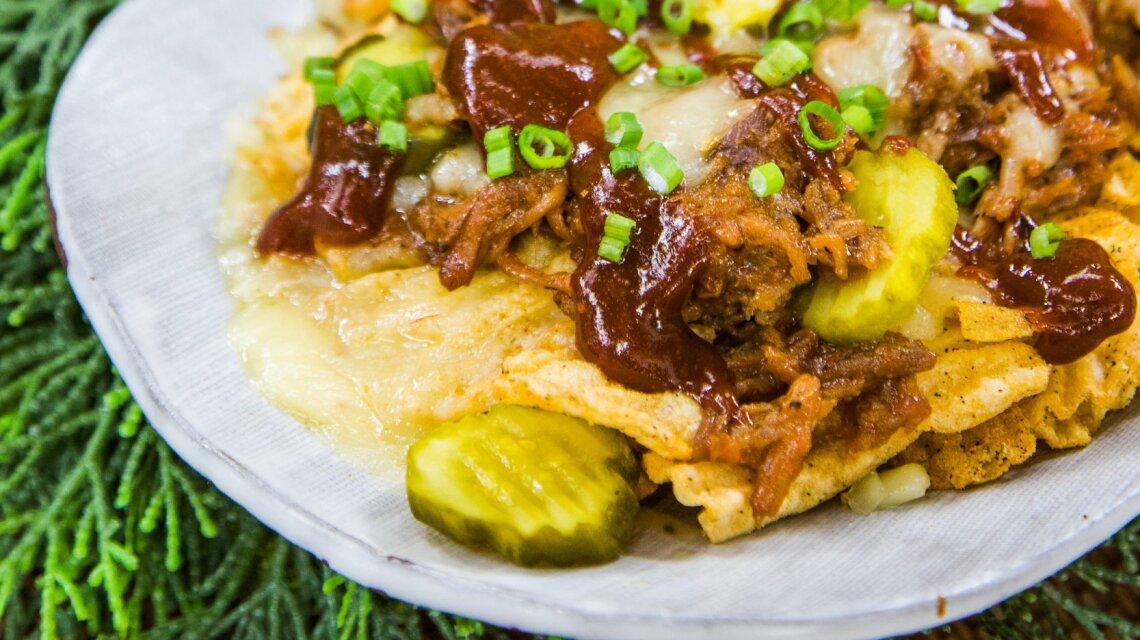 Debbie's Pulled Pork Kettle Potato Chip Nachos