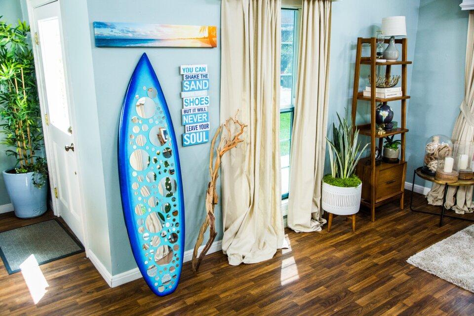 DIY Surfboard Mirror