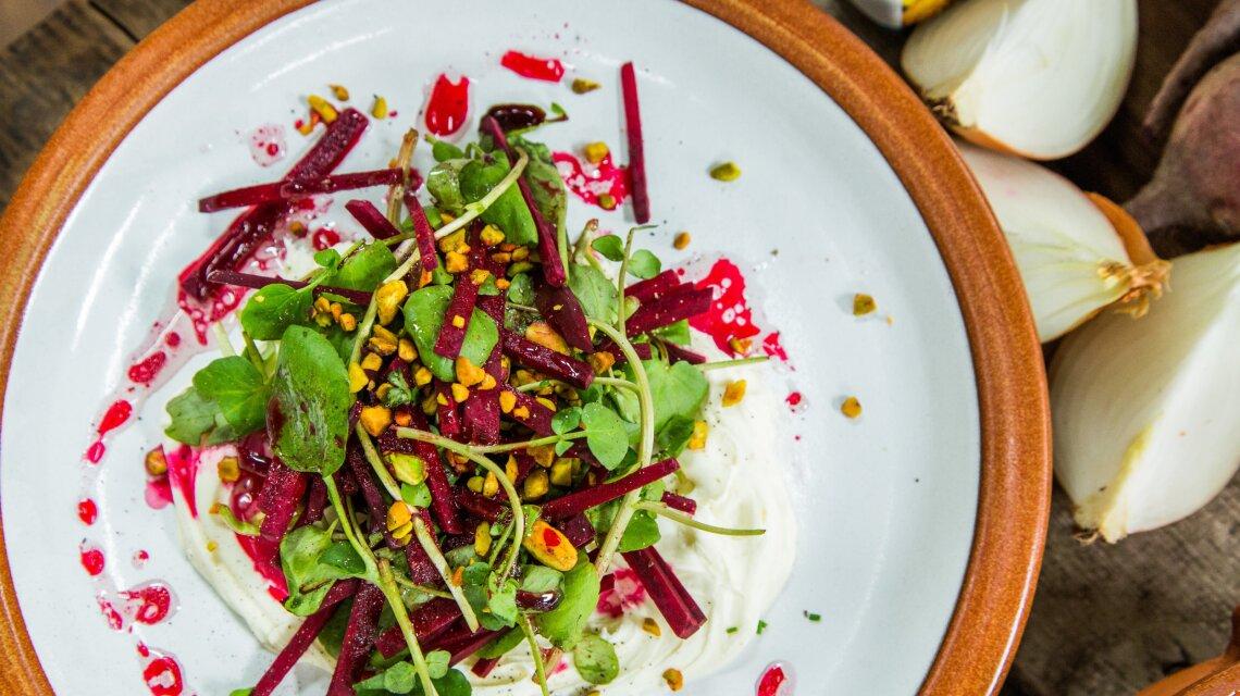 Beet Salad with Beet Vinaigrette