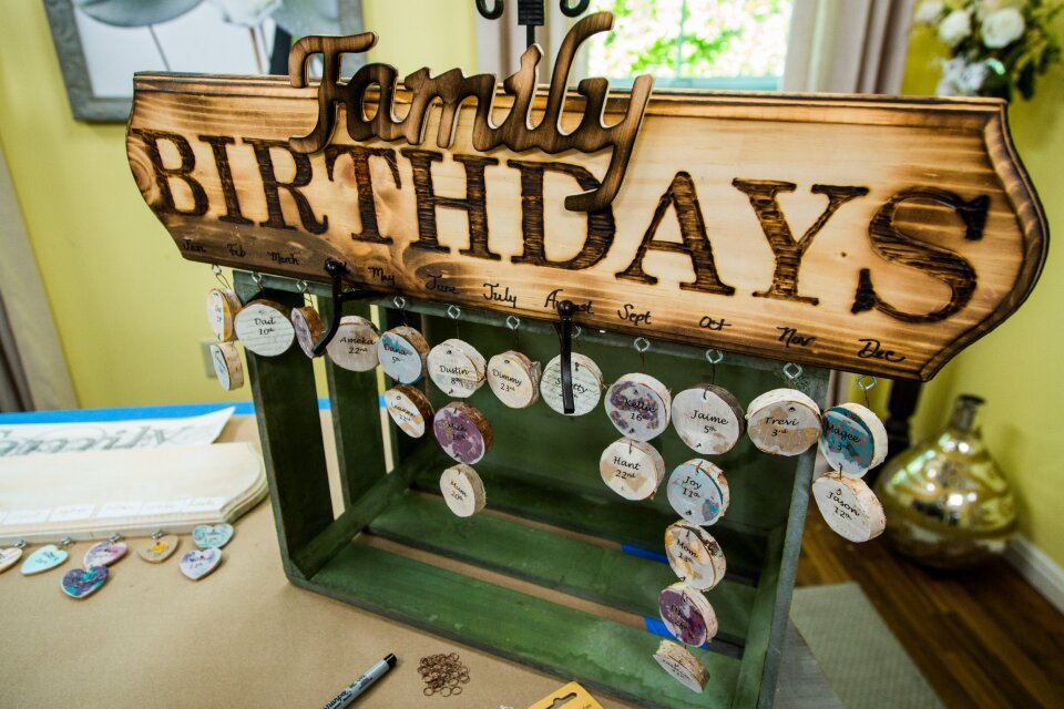 DIY Family Birthday Wall Hang