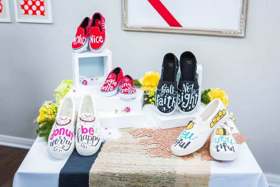 Amy Latta - DIY Hand Lettered Shoes