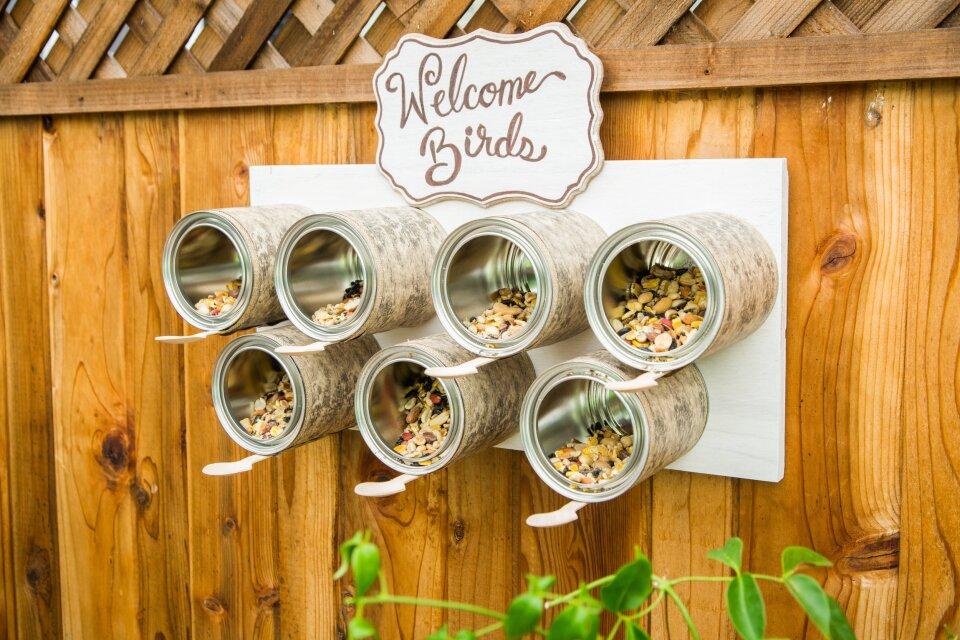 DIY Recycled Bird Feeder