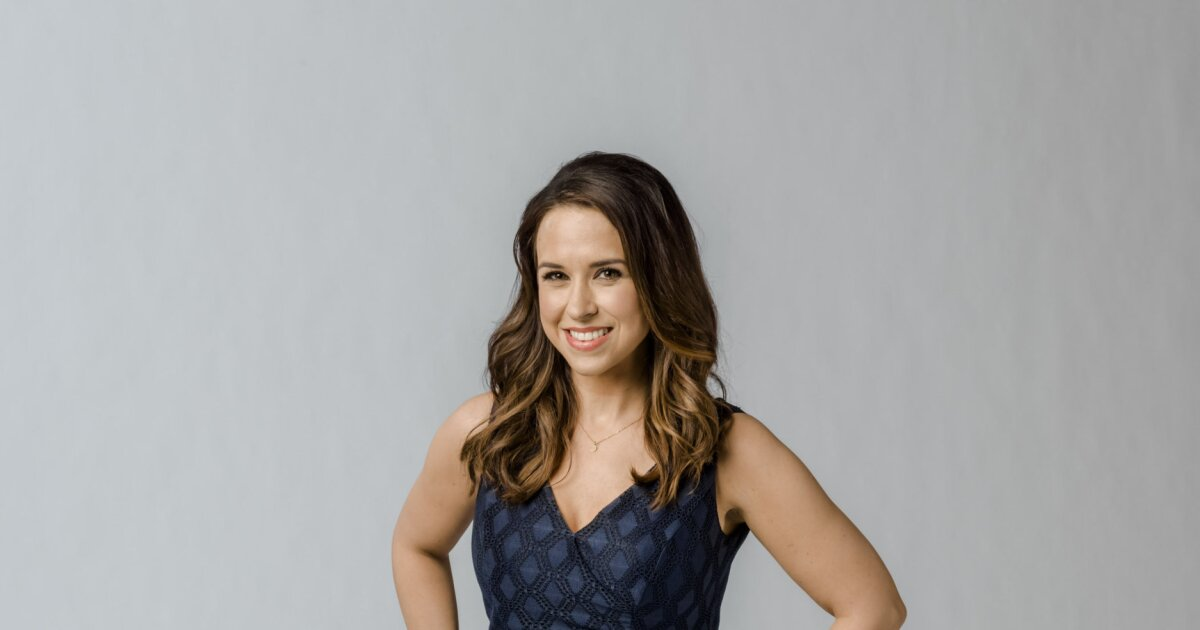Lacey Chabert as Kylie on The Sweetest Christmas