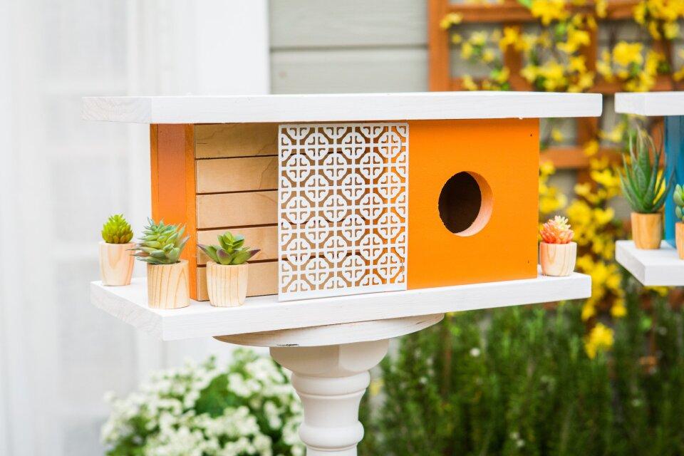 DIY Mid-Century Birdhouse