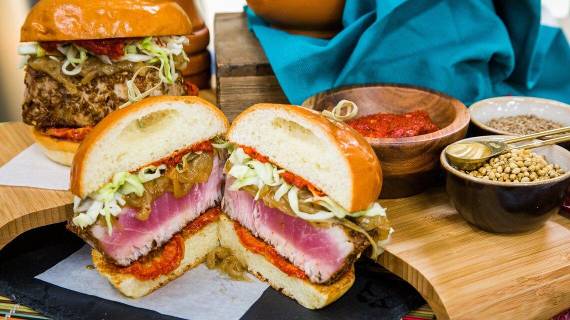 Harissa Ahi Tuna Fish Sandwich