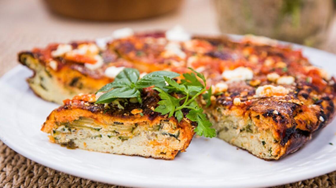 Cristina Cooks - Frittata with Zucchini & Goat Cheese