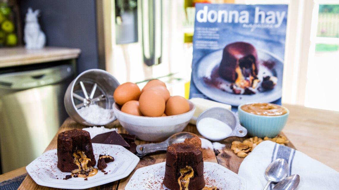 Molten Peanut Butter and Chocolate Fondant Cake