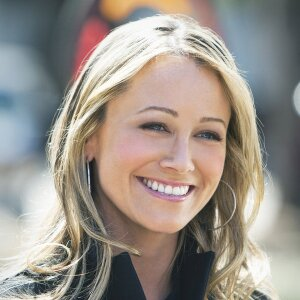 Christine Taylor in the Hallmark Christmas Movie Farewell Mr. Kringle