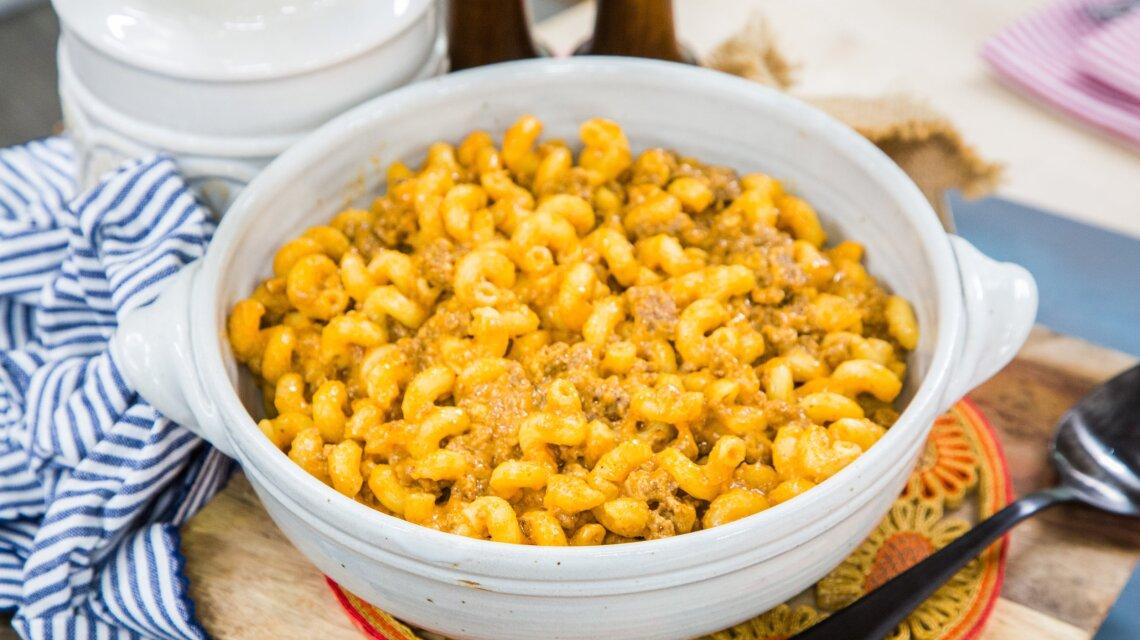Carla Hall - Meaty Tomato Mac and Cheese