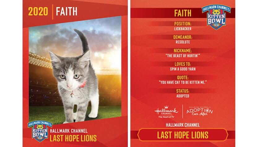 Last Hope Lions - Faith - Player Profiles 2020