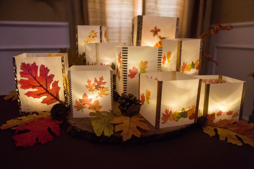 DIY Autumn Leaf Lanterns