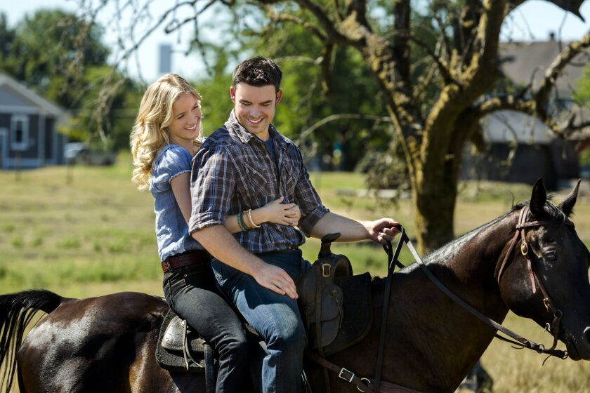 Jessy Schram and Jesse Hutch from Harvest Moon