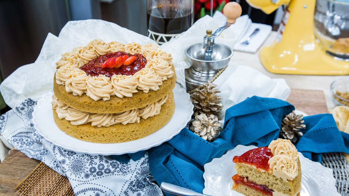 Marisa Churchill's Peanut Butter and Jelly Cake