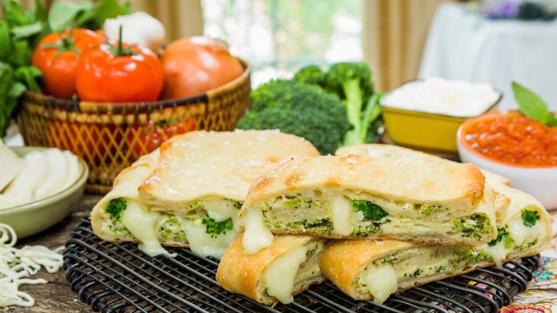 Cheesy Veggie Stromboli