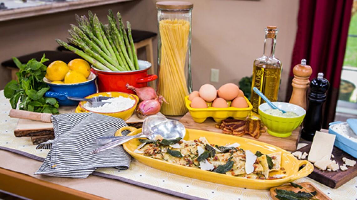 Chef Alexander Weiss Asparagus Ravioli