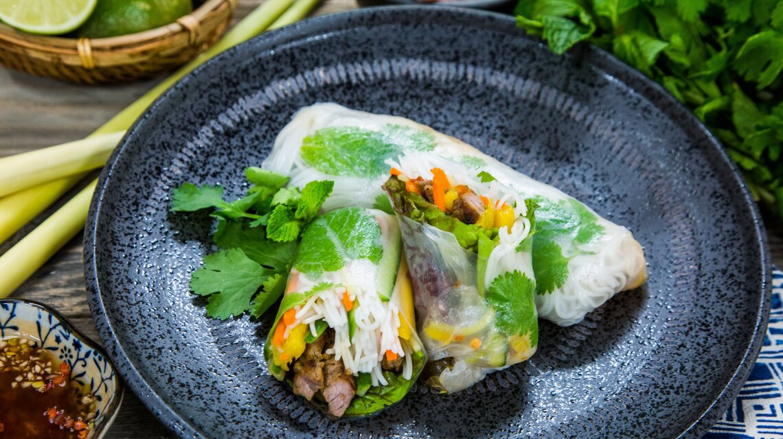 Spring Rolls  with Fresh Sweet and Tangy Dipping Sauce