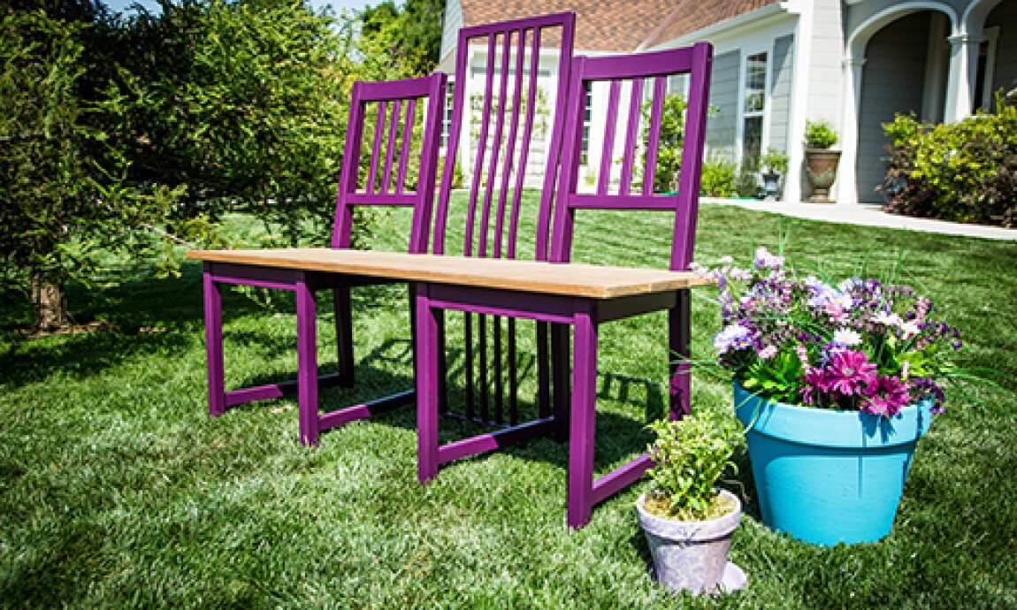 Up-Cycling Chairs Into a Garden Bench With Tamara Berg
