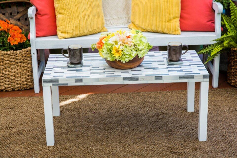 DIY Tiled Table Top