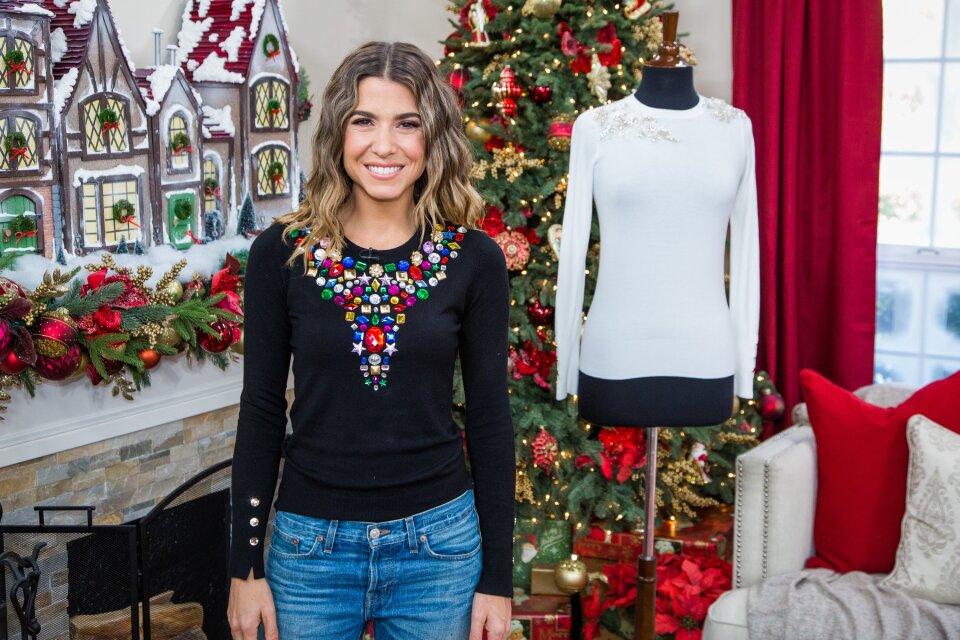 DIY Jeweled Sweaters