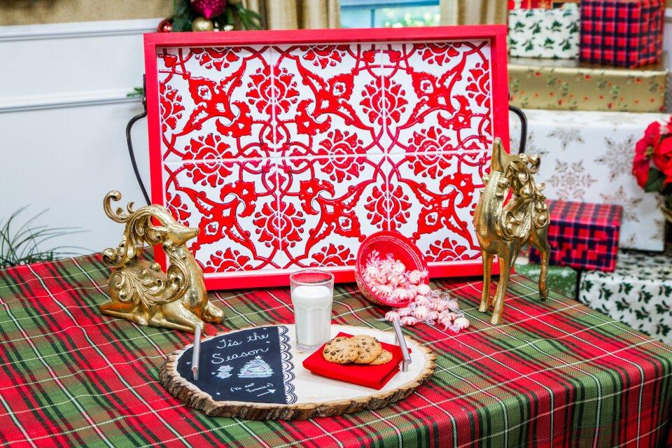 DIY Christmas Serving Trays