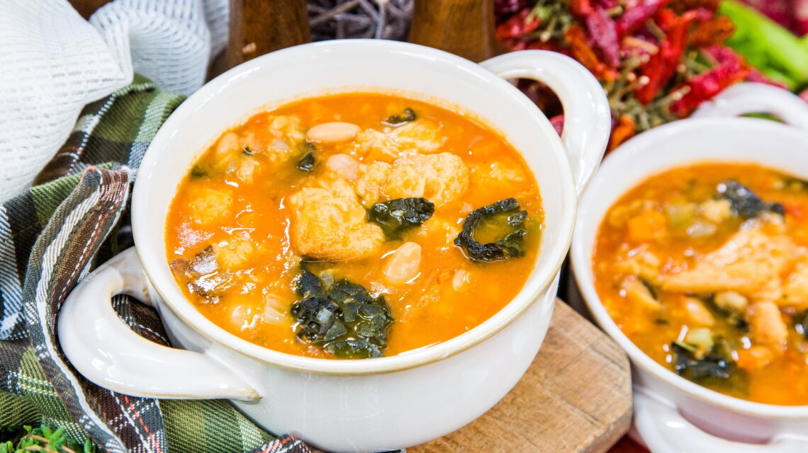 Tuscan Ribollita with Kale and Cannellini Beans