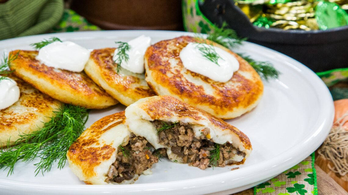 Mushroom and Beef Potato Cakes