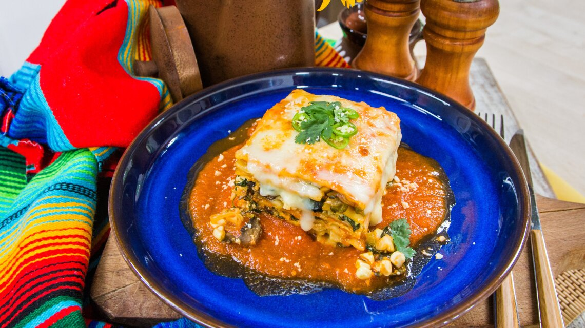 Veggie Loaded Mexican Lasagna