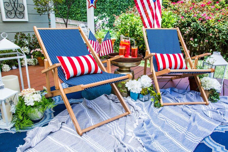 DIY Patriotic Beach Chair