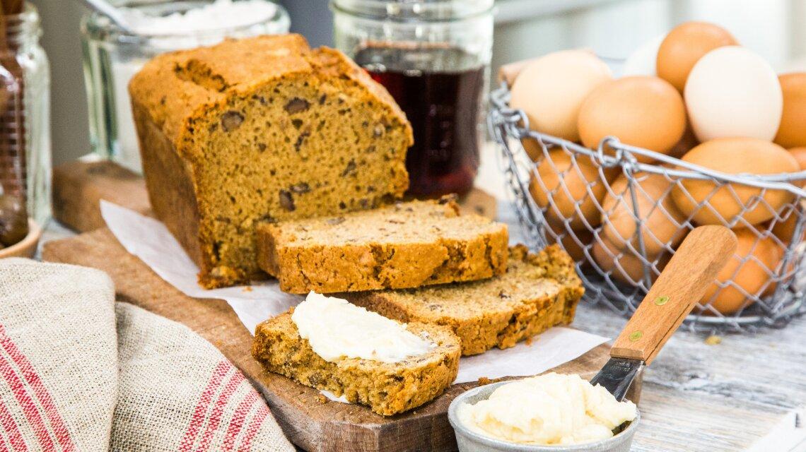 Maple Chestnut Loaf Cake