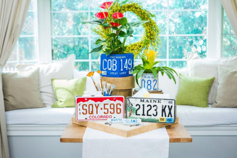DIY License Plate Crafts