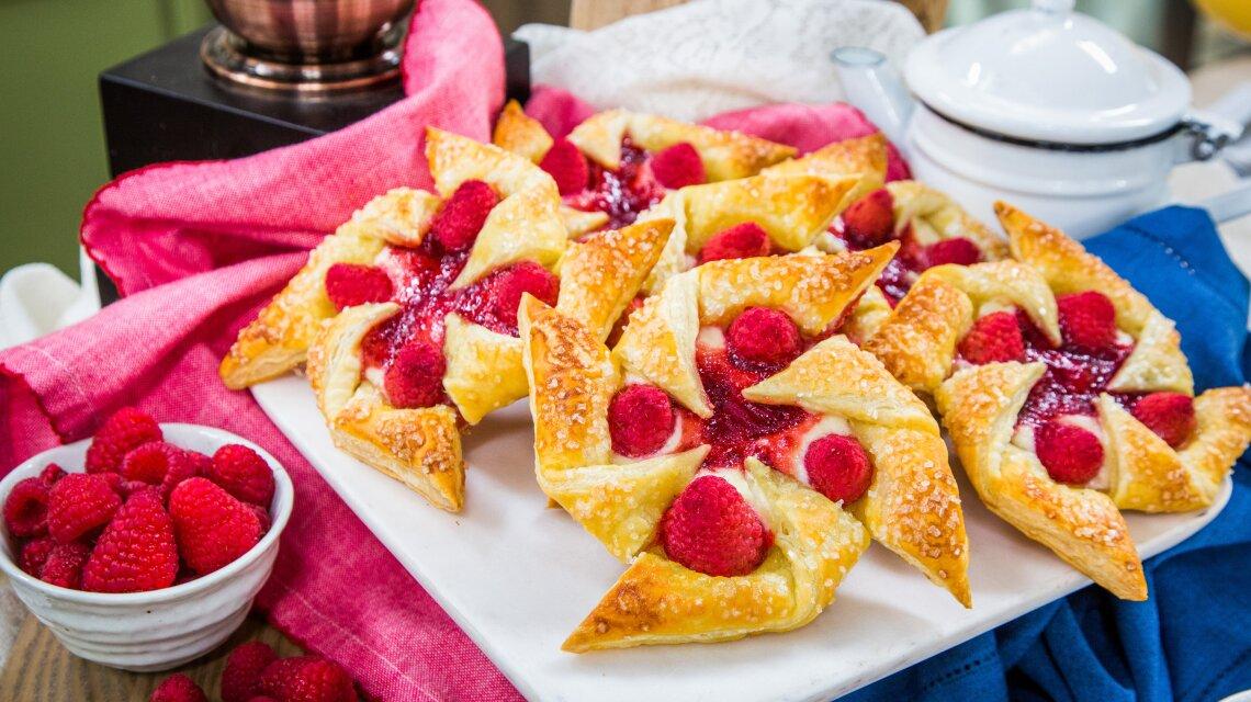Raspberry Cream Cheese Pinwheel Pastries
