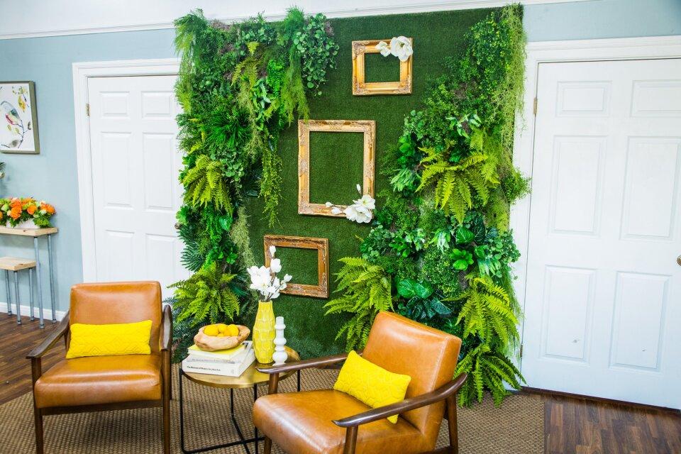 DIY Faux Living Plant Wall