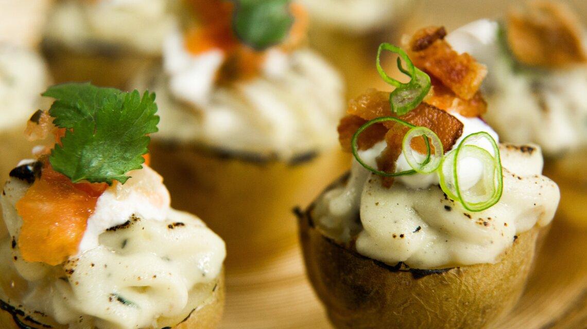 Twice-Baked Mini Potatoes