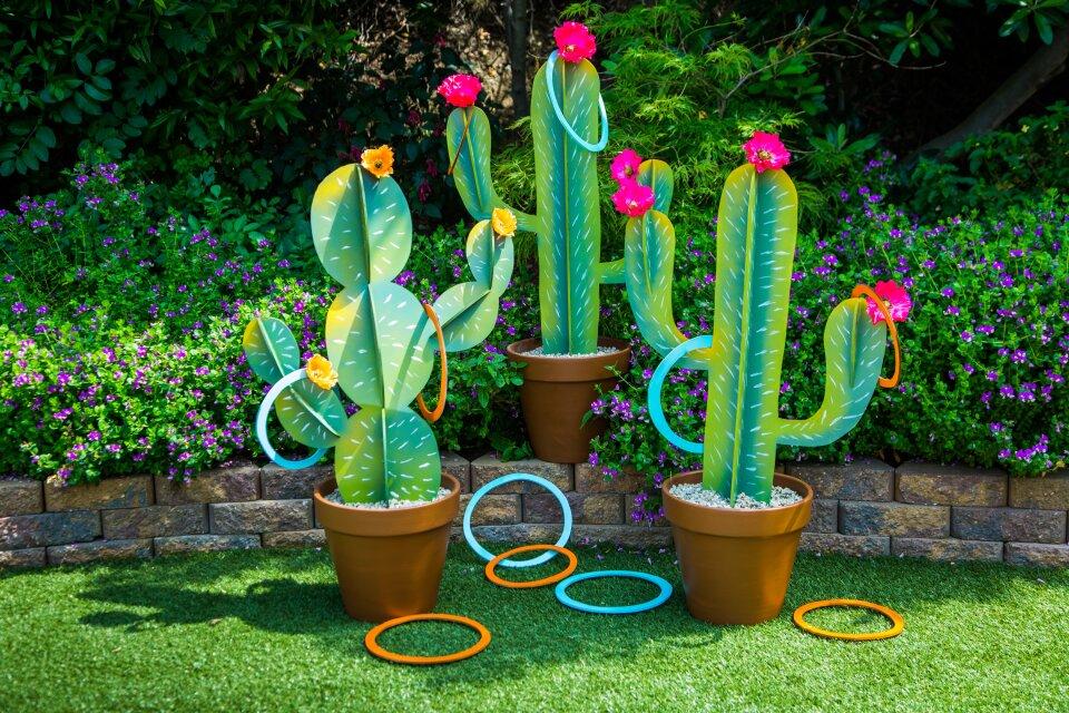 DIY Cactus Ring Toss