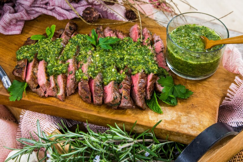 Ryan Scott Simple Pan-Seared Flank Steak with Garlic And Rosemary Recipe