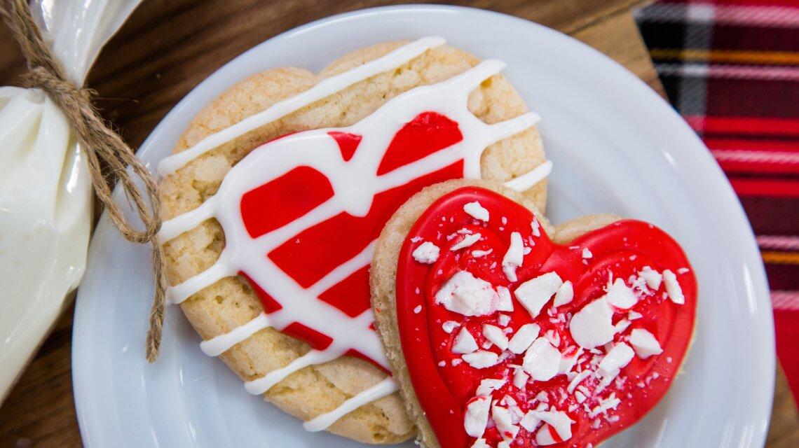 Holiday Heart-Shaped Sugar Cookies