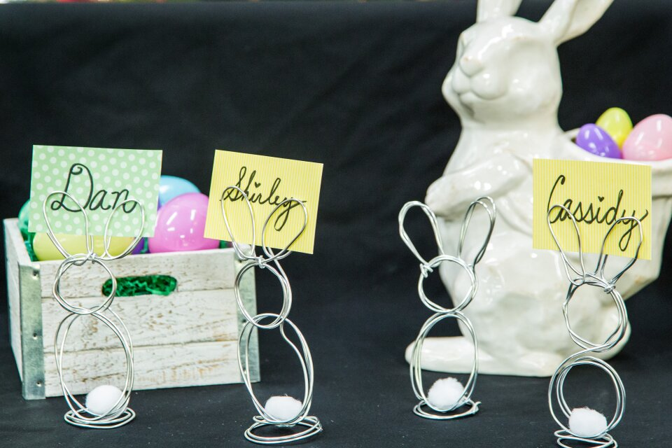 DIY Wire Easter Bunny Place Cards