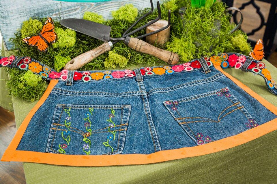 DIY Denim Garden Apron