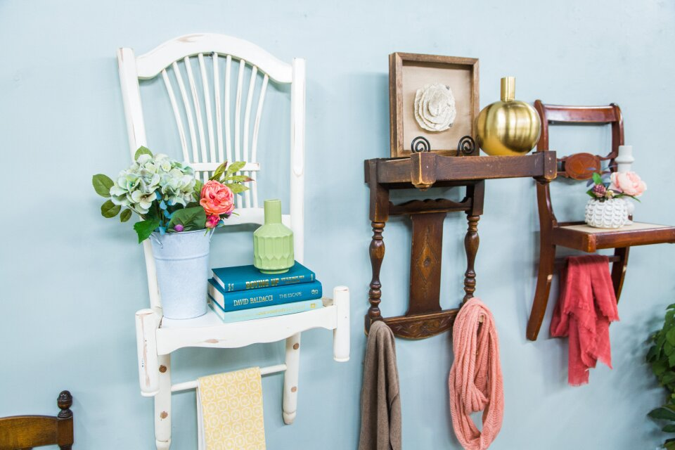 Upcycled Chair Shelves