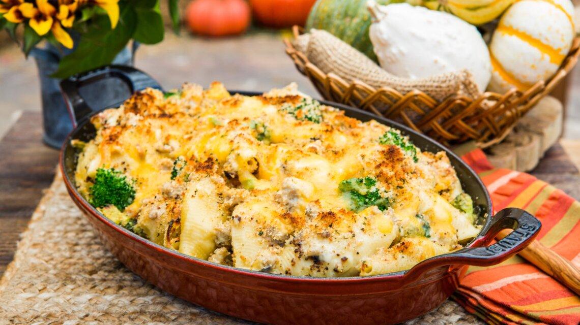 Danielle Kartes - Inside Out Creamy Stuffed Shells with Ground Turkey & Broccoli
