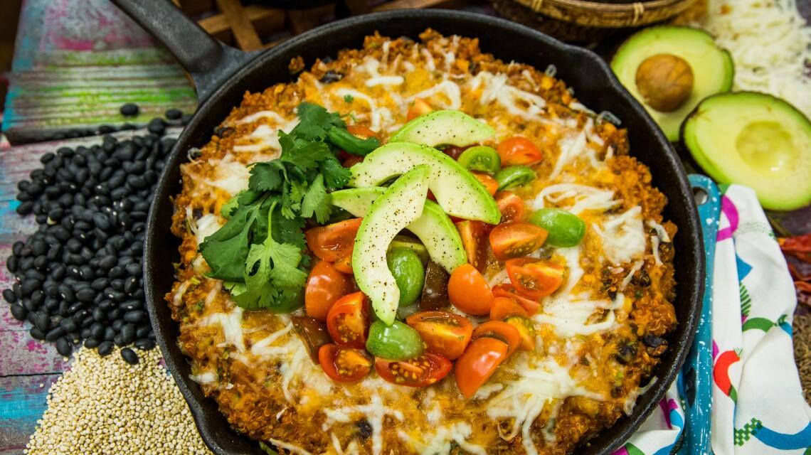 Debbie Cooks Enchilada Quinoa Casserole