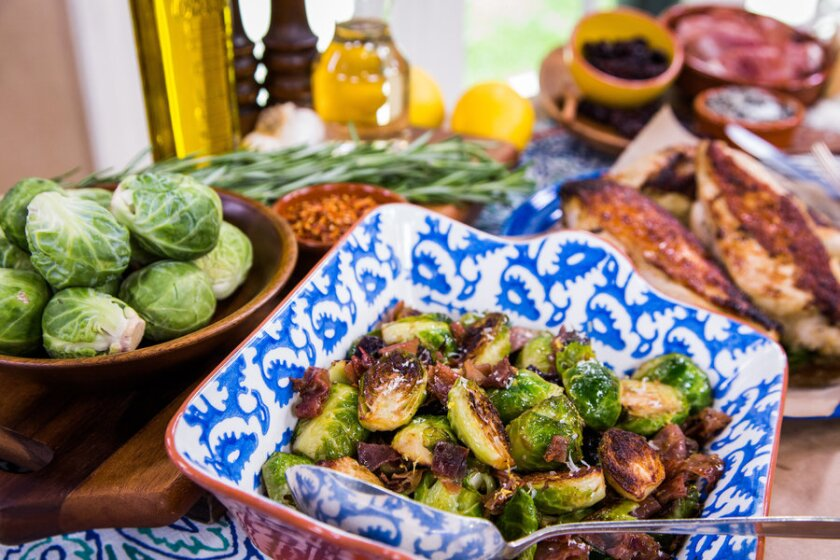 Brussel Sprouts with Chicken Marinade