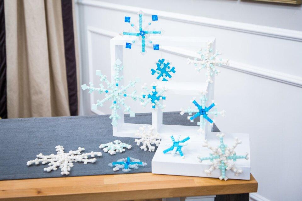 DIY Lego Snowflakes